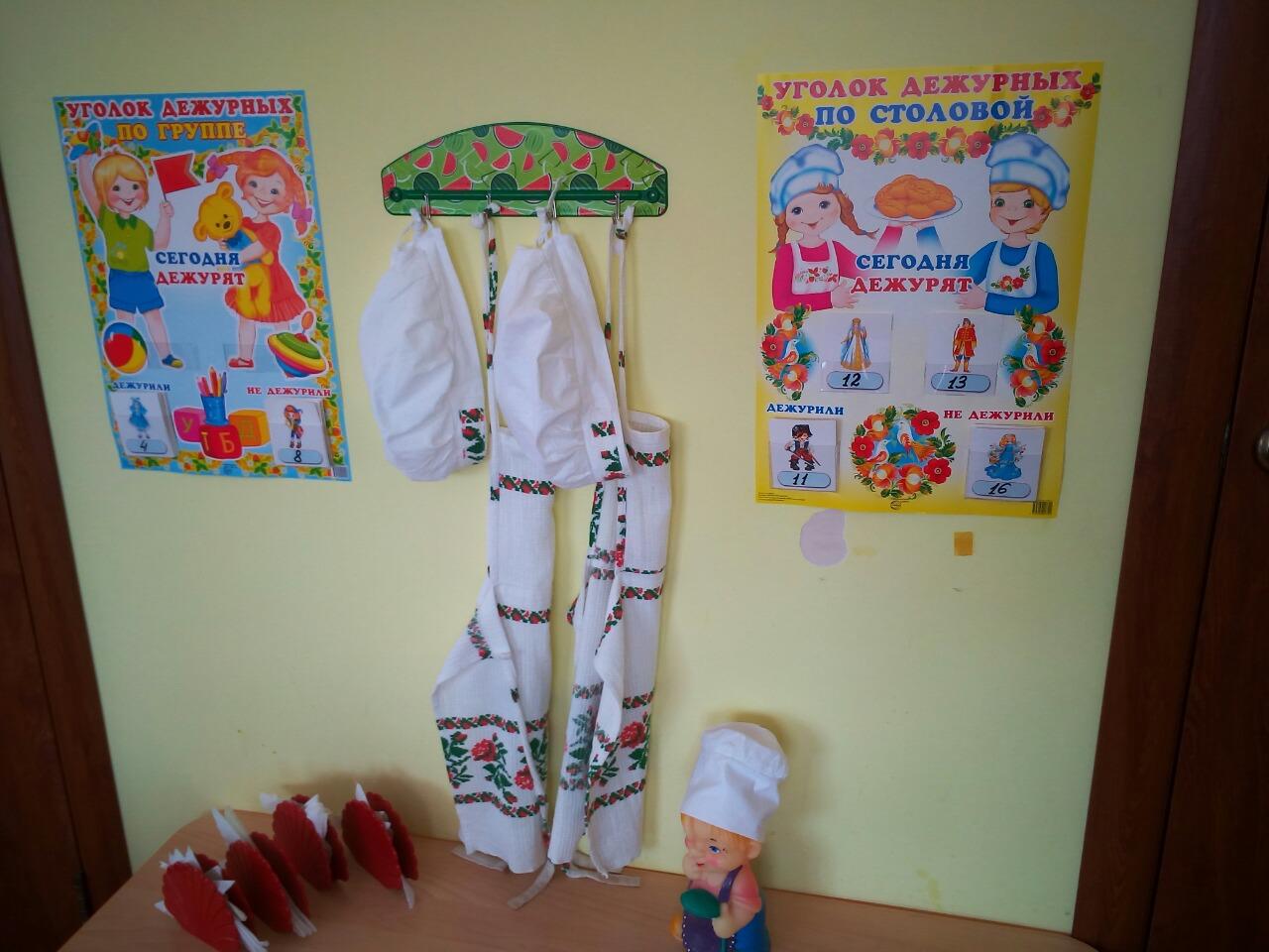 Оформление детского сада. «Уголок дежурных» и «Уголок 95
